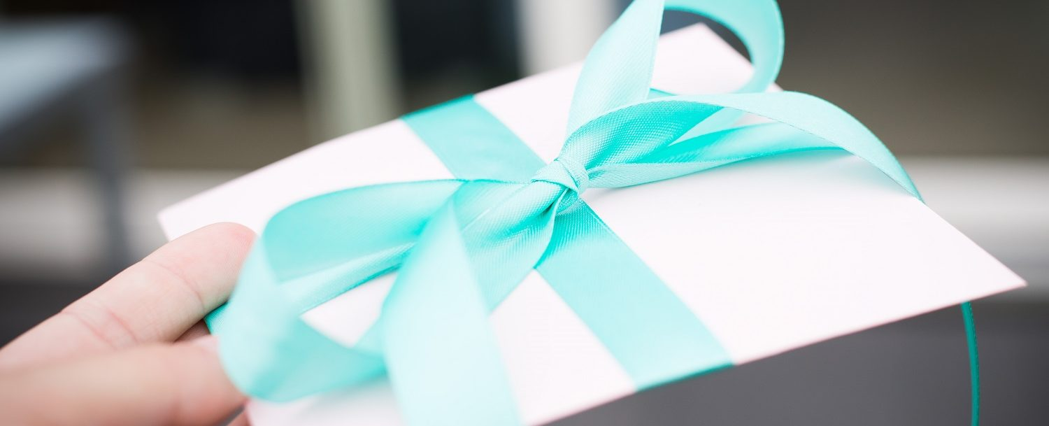Beautfully wrapped gift - envelope