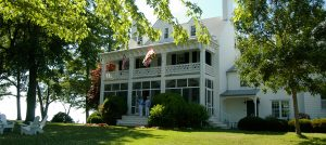 The Main House at Wades Point Inn on the Bay.