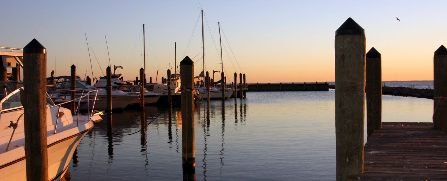 A Chesapeake Bay Marina at Dawn