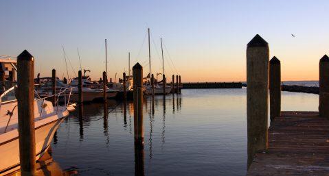 A Chesapeake Bay Marina at Dawn